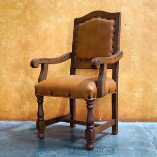 spanish leather chair