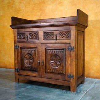 Mirasol Reception Desk, Spanish Colonial Desk - Demejico
