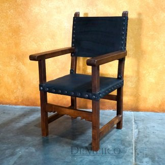 Spanish Colonial Chair with Arms, Traditional Mexican Chair