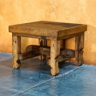 Rustica End Table, Reclaimed Wood End Table