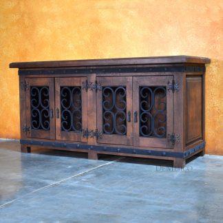 "Mesquite Wood TV Stand, 60"" Espanola Alamo TV Stand - Demejico"
