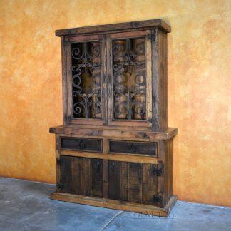 Old World Style Spanish Storage Hutch, Cantina Antigua Hutch - Demejico
