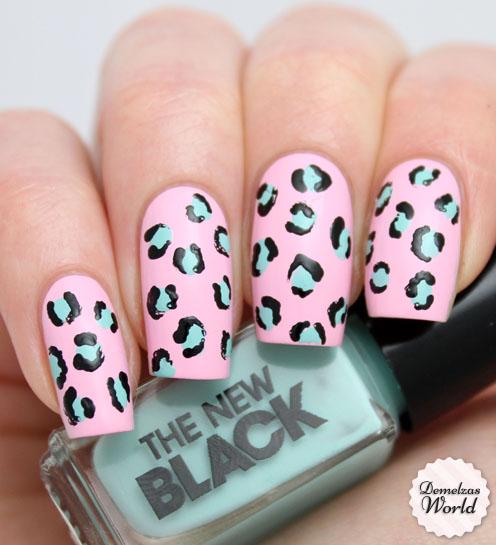The New Black Leopard Manicure Nail Art