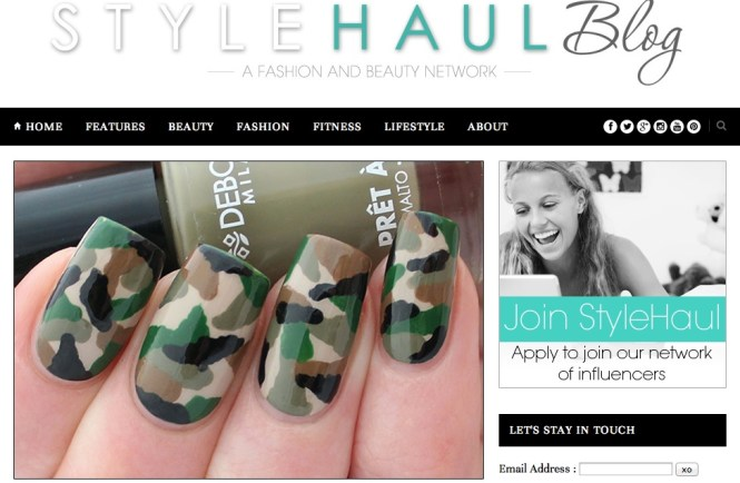 Nail Art Tutorial French Tip Camo