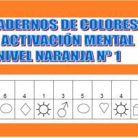 Serie 1 naranja: Cuaderno en pdf de ejercicios de estimulación cognitiva. Deterioro muy leve.