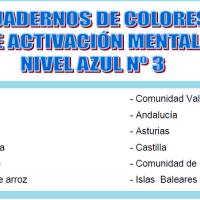 Serie 3 azul: Cuaderno en pdf de ejercicios de estimulación cognitiva. Deterioro leve-moderado.