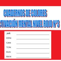 Serie 3 rojo: Cuaderno en pdf de ejercicios de estimulación cognitiva. Deterioro leve.