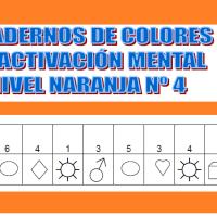 Serie 4 naranja: Cuaderno en pdf de ejercicios de estimulación cognitiva. Deterioro muy leve.