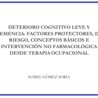 DETERIORO COGNITIVO LEVE Y DEMENCIA: FACTORES PROTECTORES, FACTORES DE RIESGO, CONCEPTOS BÁSICOS E INTERVENCIÓN NO FARMACOLÓGICA DESDE TERAPIA OCUPACIONAL.
