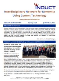 dementiainduct.eu image: Newsletter Spring 2016