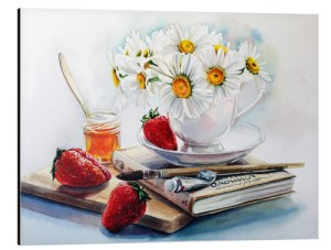 Daisies & Strawberry Tea Wall Art at www.dementiaworkshop.co.uk