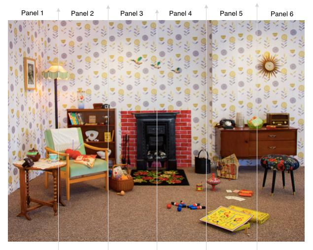Happy Days 1950s Room Scene Wallpaper £295 www.dementiaworkshop.co.uk