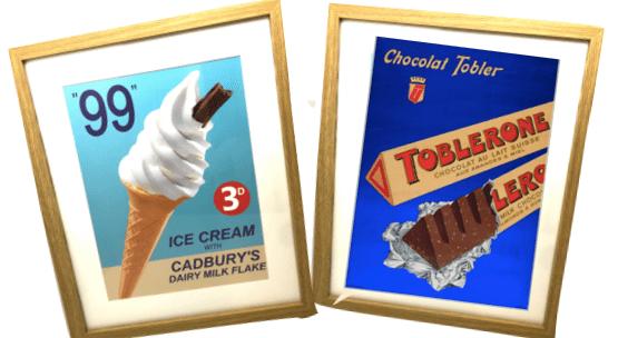 Toblerone & '99' Brands Wall Art
