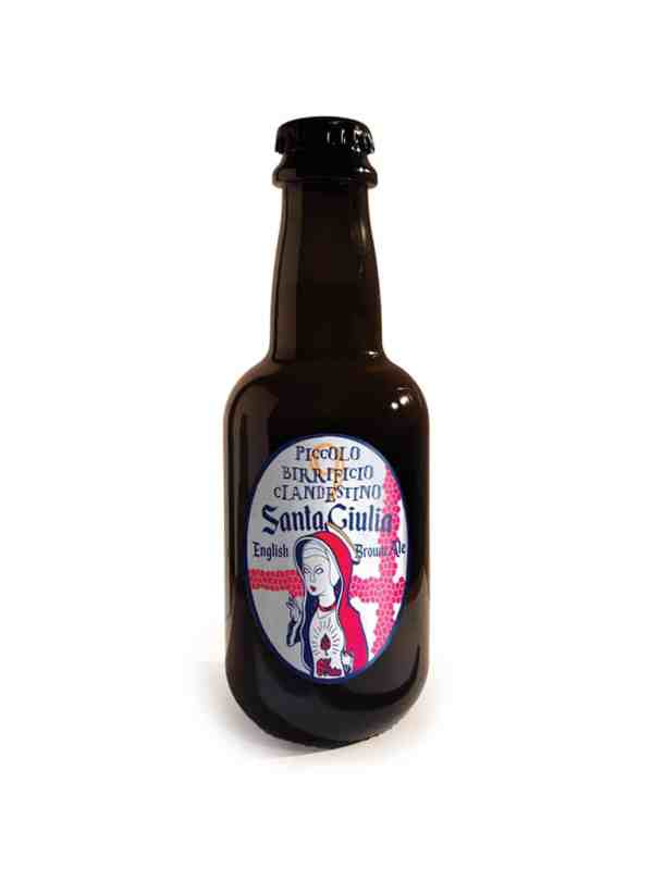 Demetra Bottega Craft Beer Santa Giulia Clandestino English Brown Ale
