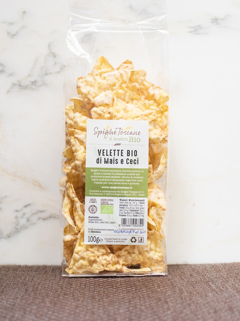 Demetra Bottega Nuvole Puffed Corn and Chickpea Chips from Spighe Toscane