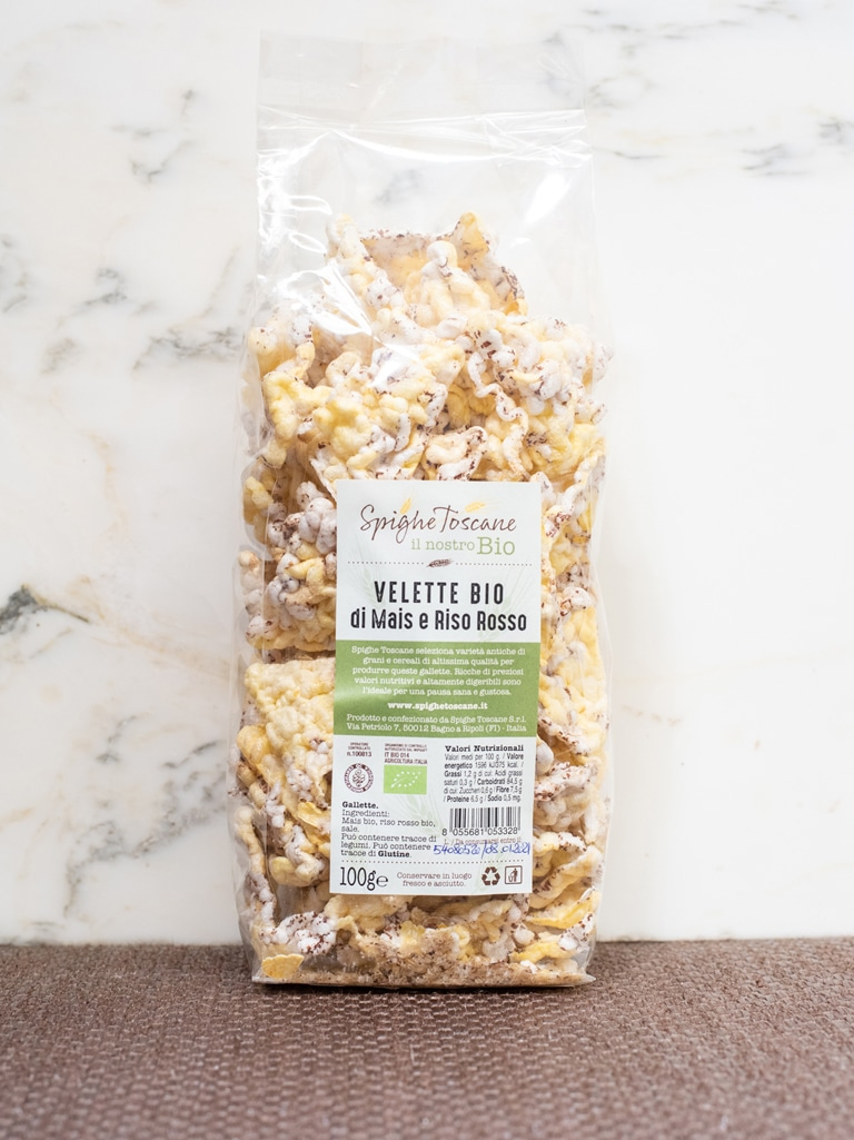 Demetra Bottega Nuvole Puffed Corn and Rice Chips from Spighe Toscane