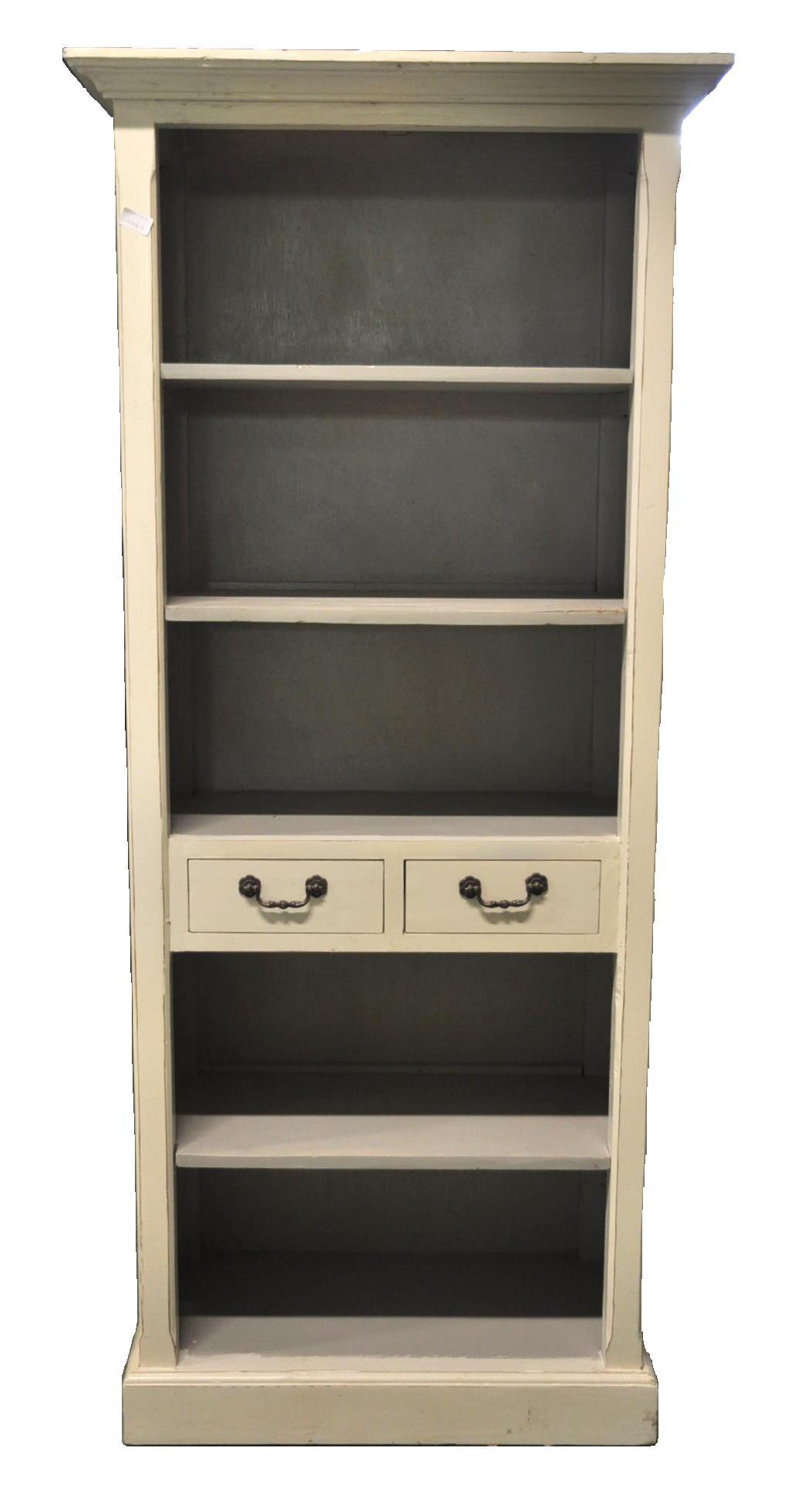 petite bibliotheque ivoire interieure gris