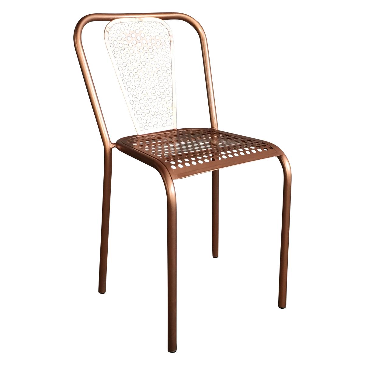 chaise en metal style vintage couleur cuivree