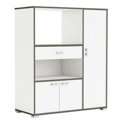 3 door 1 drawer microwave cart tall