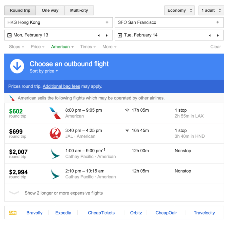 Round trip between Hong Kong and SF is somehow cheaper?!