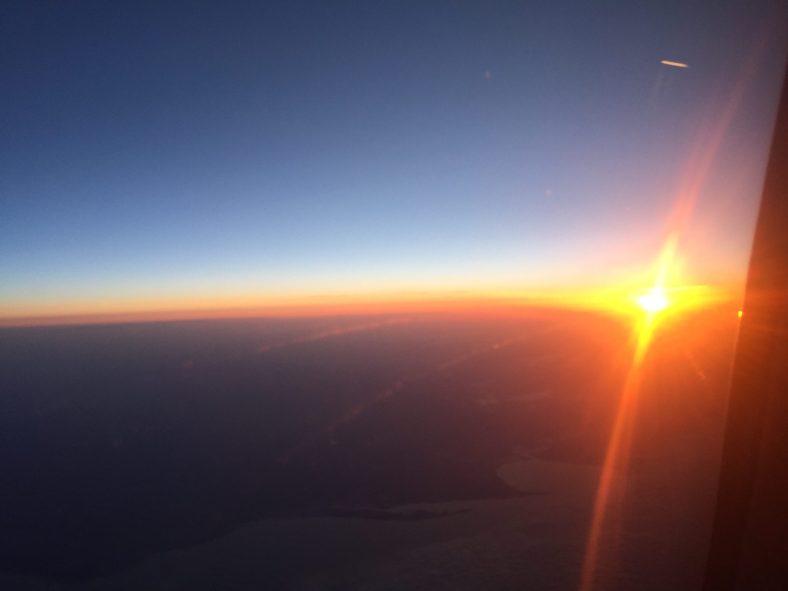 Sunrise in full force