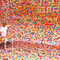 Thousands of Stickers + Thousands of Kids + White Room = ?