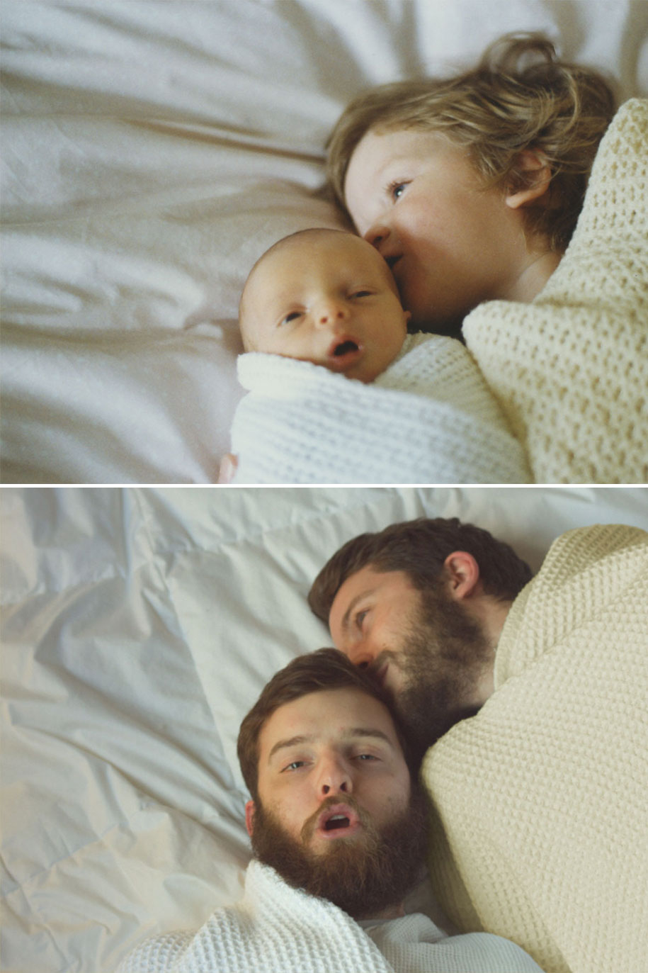 Two Brothers Re Create Childhood Photos As A Priceless Gift To Their Mother