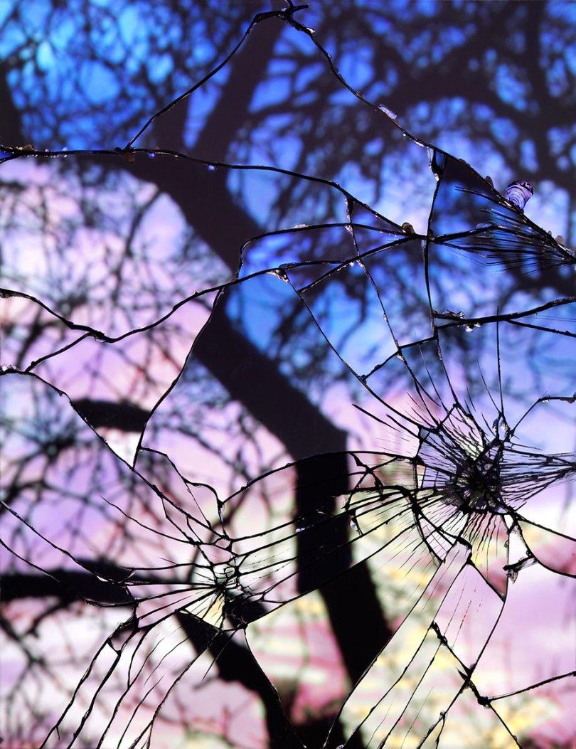 broken mirror evening sky photography bing wright 5 - Pôr-do-sol visto através de espelhos quebrados