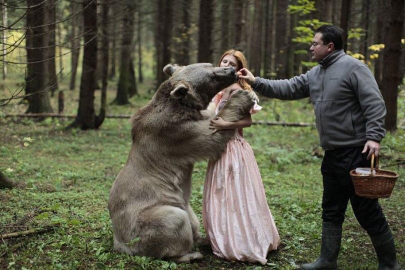 surreal animal human portraits katerina plotnikova 2 - Fotografias místicas: Pose de animais reais com seres humanos