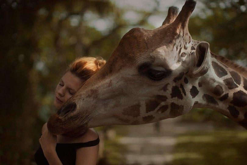 surreal animal human portraits katerina plotnikova 20 - Fotografias místicas: Pose de animais reais com seres humanos