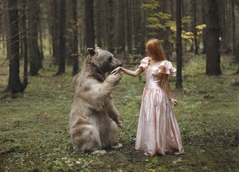 surreal animal human portraits katerina plotnikova 21 - Fotografias místicas: Pose de animais reais com seres humanos