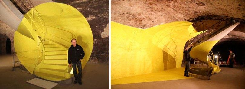 forced perspective art bending space georges rousse 14 - Foto em perspectiva: Arte geométrica 3D por Georges Rousse é visível apenas de um ângulo