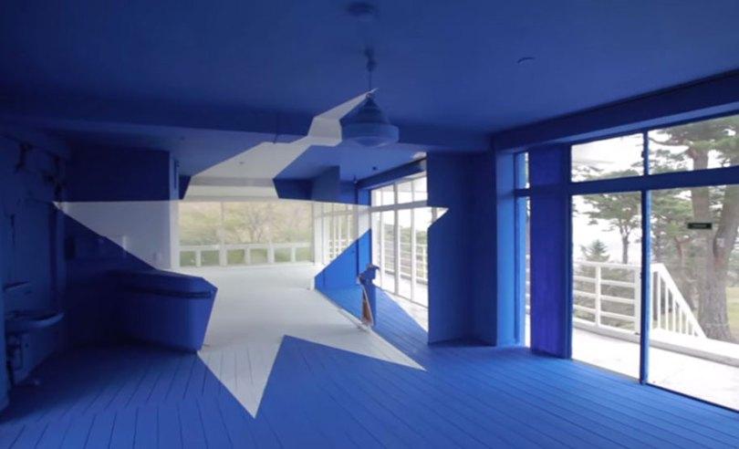 forced perspective art bending space georges rousse 18 - Foto em perspectiva: Arte geométrica 3D por Georges Rousse é visível apenas de um ângulo