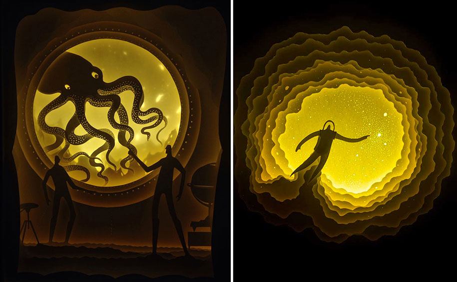 New Beautiful Backlit Paper Light Boxes By Hari Amp Deepti
