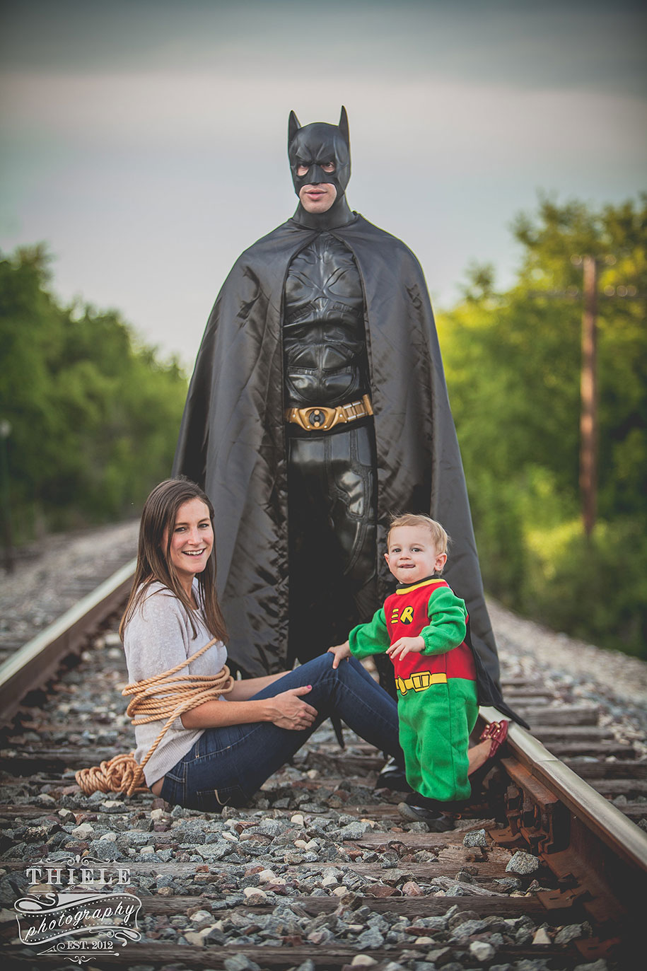 Creative Wife Organizes Batman And Robin Shoot For Her
