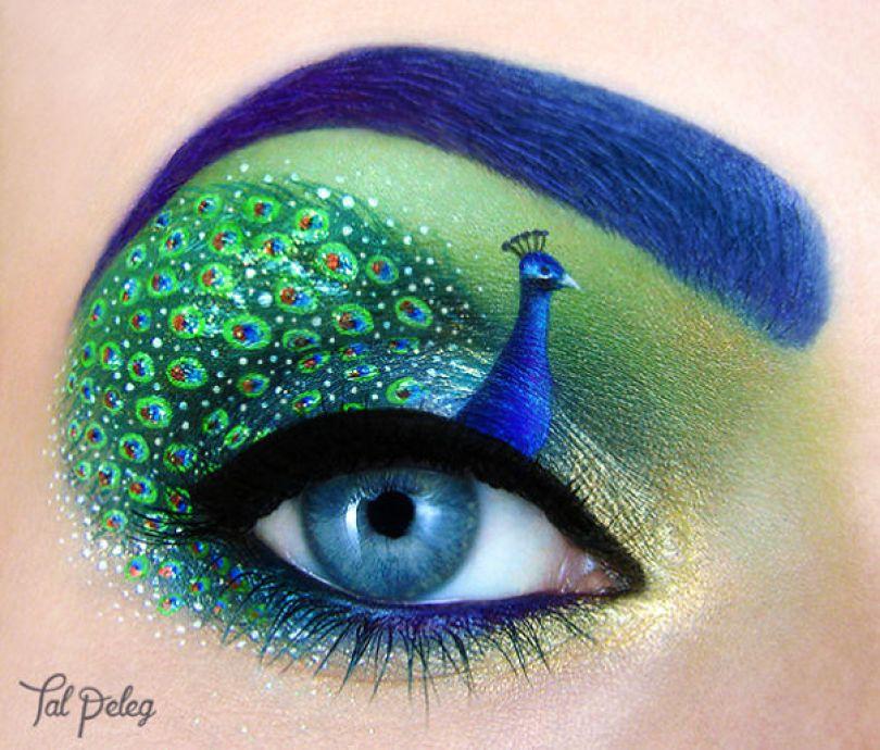 make up eyelid eye art drawings tal peleg israel 10 - Artista israelense desenha arte de maquiagem em suas próprias pálpebras