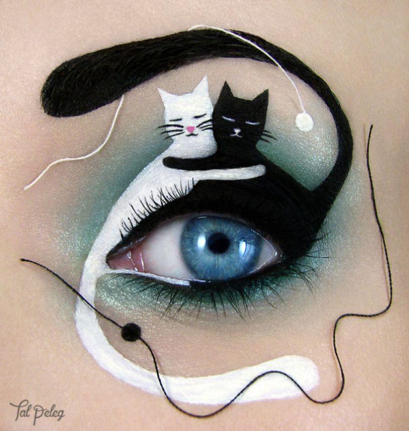 make up eyelid eye art drawings tal peleg israel 23 - Artista israelense desenha arte de maquiagem em suas próprias pálpebras