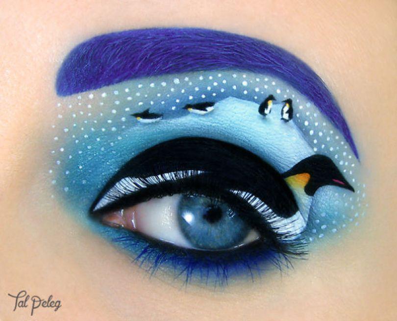 make up eyelid eye art drawings tal peleg israel 28 - Artista israelense desenha arte de maquiagem em suas próprias pálpebras