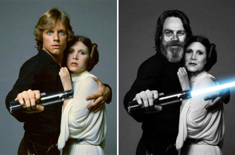 now then star wars cast actors 1 - Star Wars de 1977 O antes e depois dos artistas