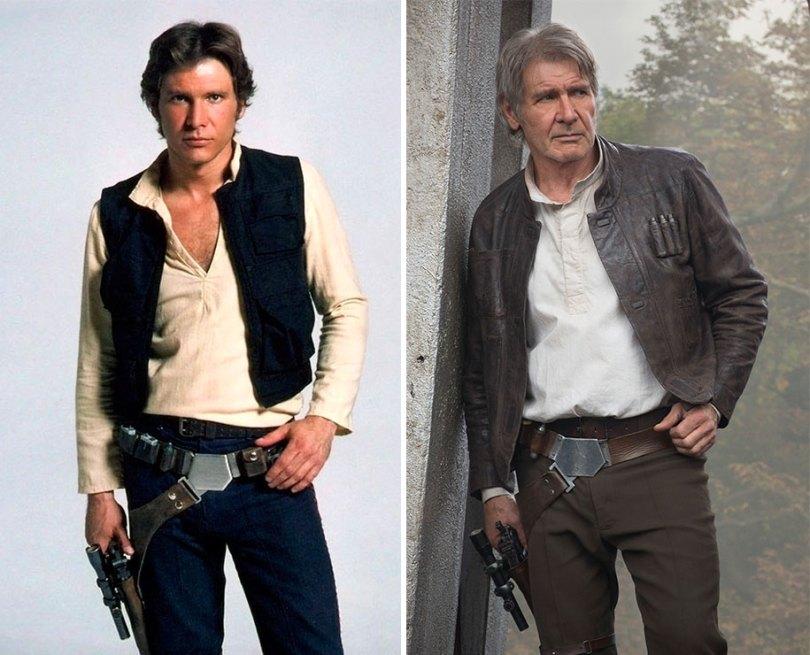 now then star wars cast actors 2 - Star Wars de 1977 O antes e depois dos artistas