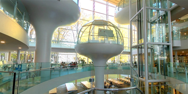 Library In Tokyo Lets You Study In A Floating Glass Dome