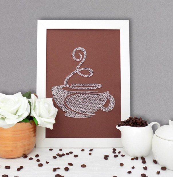 Coffe Cup Kitchen Decoration