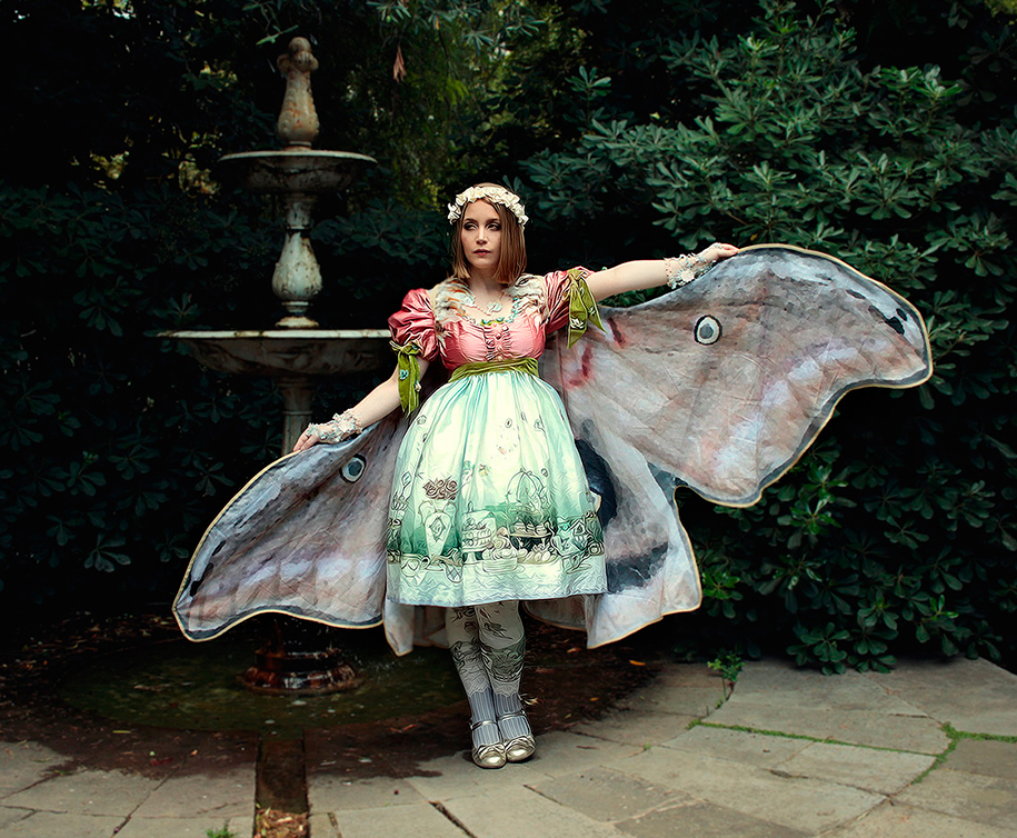 Realistic Hand Crafted Butterfly Wing Scarves By Alassie