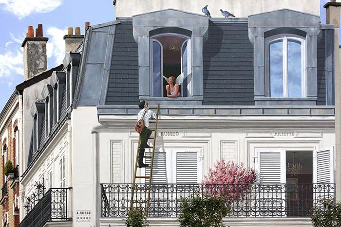 street art hyper realistic fake facades patrick commecy 11 - Artista francês transforma fachadas de prédios em desenhos cheios de vida