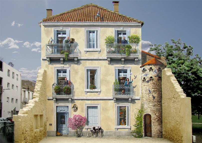 street art hyper realistic fake facades patrick commecy 15 - Artista francês transforma fachadas de prédios em desenhos cheios de vida