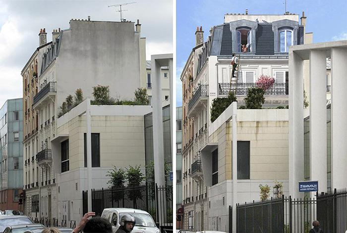 street art hyper realistic fake facades patrick commecy 24 - Artista francês transforma fachadas de prédios em desenhos cheios de vida