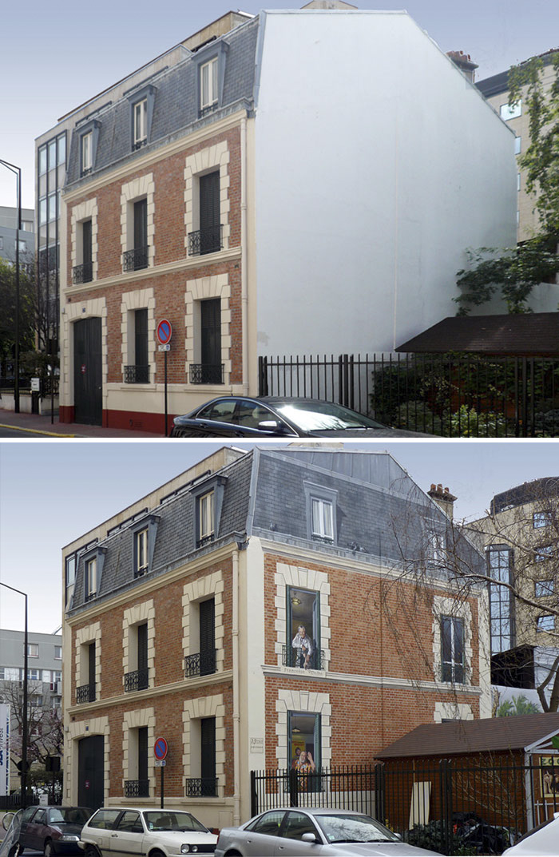 street art hyper realistic fake facades patrick commecy 28 - Artista francês transforma fachadas de prédios em desenhos cheios de vida