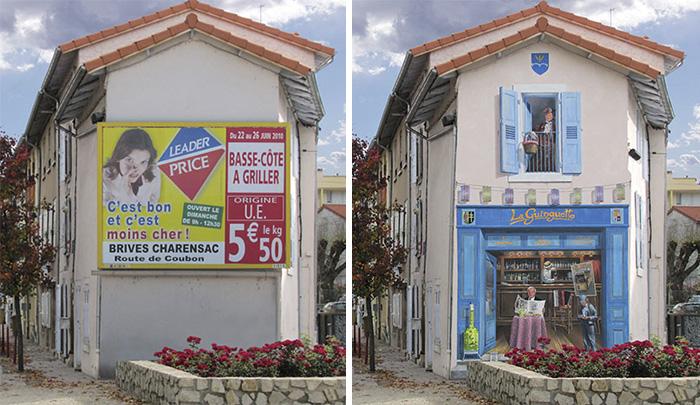street art hyper realistic fake facades patrick commecy 31 - Artista francês transforma fachadas de prédios em desenhos cheios de vida