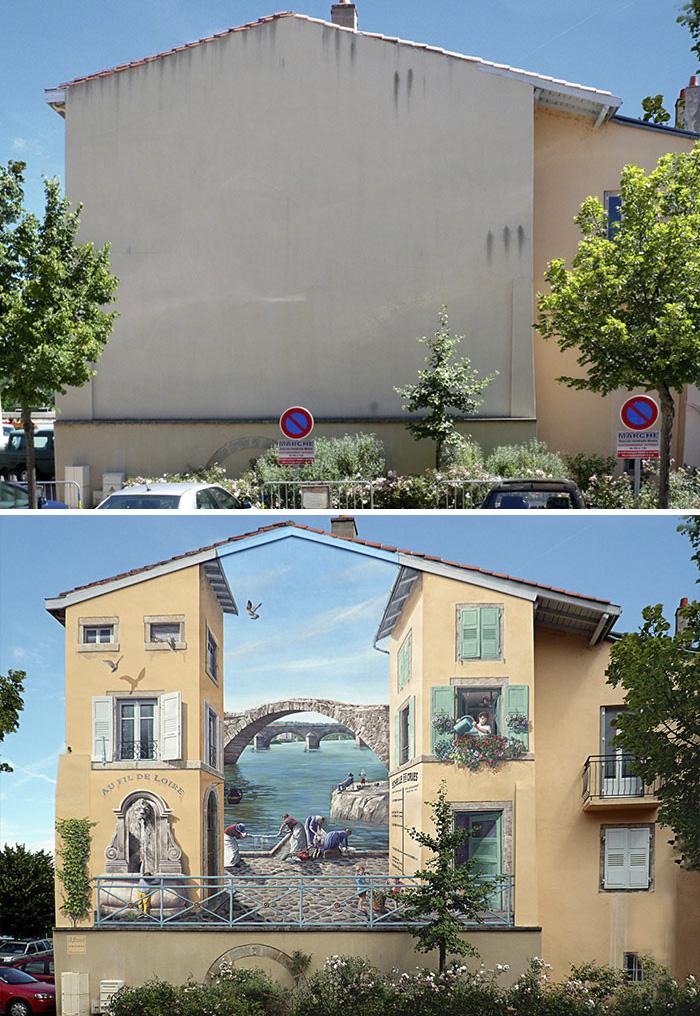 street art hyper realistic fake facades patrick commecy 9 - Artista francês transforma fachadas de prédios em desenhos cheios de vida