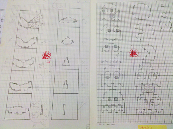 pac-man-original-drawings-toru-iwatani-4